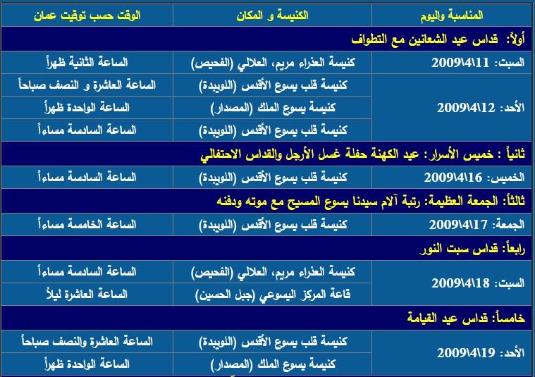 برنامج القيامة 2009