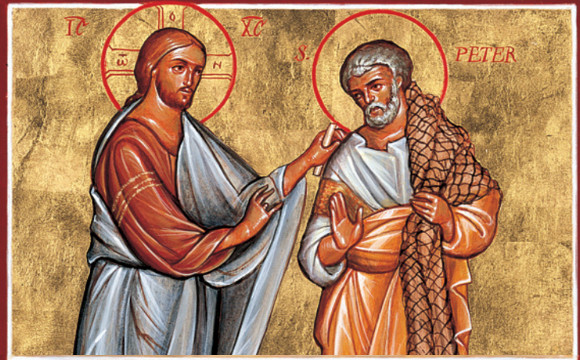Jesus Speaks with Peter