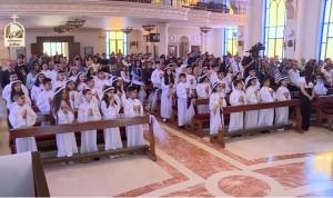 القداس الإحتفالي لمنح سرالمناولة الأولى لأبناء رعية الكنيسة الكلدانية في الأردن 2017