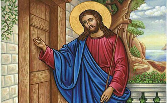 jesus knockhing the door